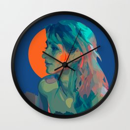 Muse Of The Mountains Wall Clock