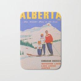 Alberta, Canada Vintage Travel Poster Bath Mat