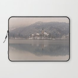 Bled Island On A Wintry Day Laptop Sleeve