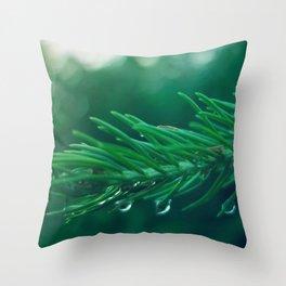 EVERGREEN TREE TWIG Throw Pillow