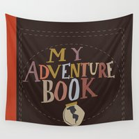 carl sagan Wall Tapestries featuring my adventure book.. up, carl and ellie by studiomarshallarts
