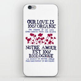 100% Organic Love iPhone Skin