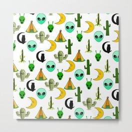 Teepees, Cacti, Aliens, Oh my! Metal Print