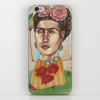 frida iPhone & iPod Skins featuring FRIDA by busymockingbird