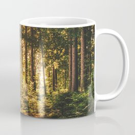 Woods  - Forest, green trees outdoors photography Coffee Mug