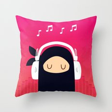 Music Ninja Throw Pillow