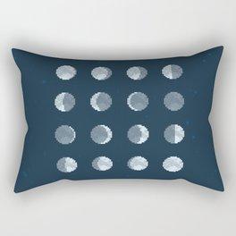8bit Moon Phases Rectangular Pillow