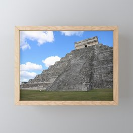 Chichen Itza Temple of Kukulcan south-west View Framed Mini Art Print