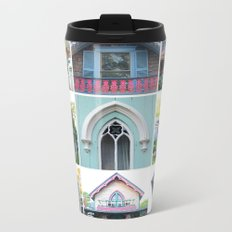 Pretty Cottages all in a Row Metal Travel Mug