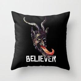 Krampus Believer Gruss Vom Merry Christmas Demon Throw Pillow