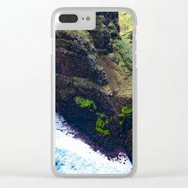 Coastal Cliffs Hawaiian Tropical Beach Clear iPhone Case