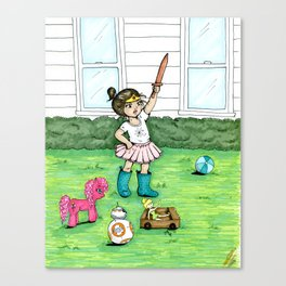 A Girl And Her Army Canvas Print