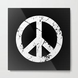Peace Grunge Symbol Metal Print