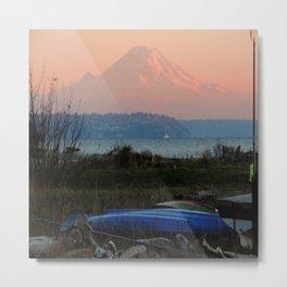 Mount Rainier at Dusk Metal Print