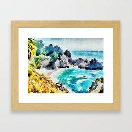 Banho Límpido Framed Art Print