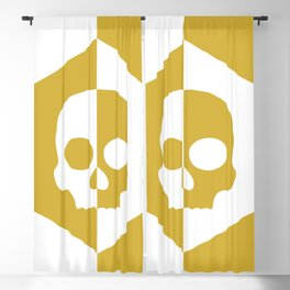 Honey Skulls Duality V1 Blackout Curtain