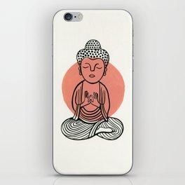 Salmon Buddha iPhone Skin