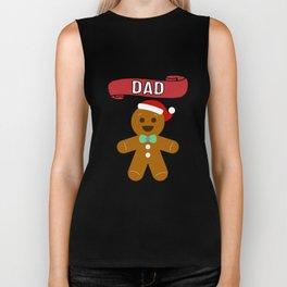 Dad GingerBread Gift Biker Tank