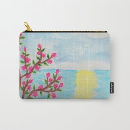 Cherry Tree Ocean View Carry-All Pouch