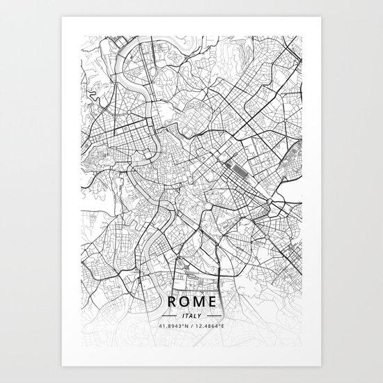 Rome, Italy - Light Map by designermapart