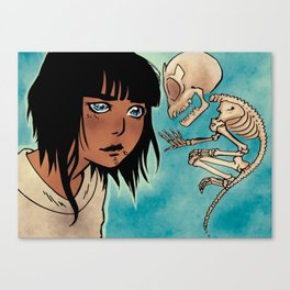Trinadot Bea Skeleton Monkey Canvas Print