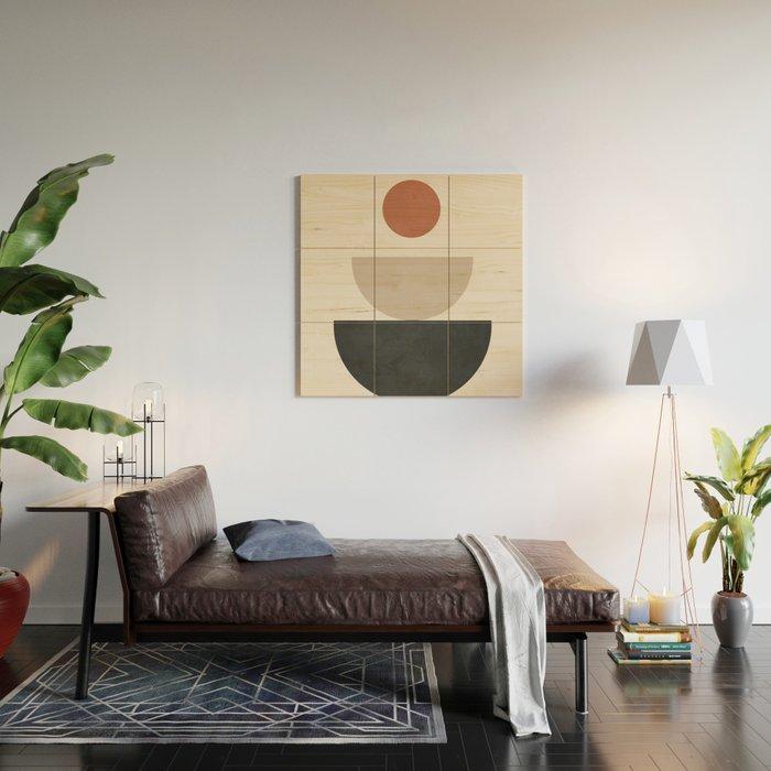 Geometric Modern Art 30 Wood Wall Art