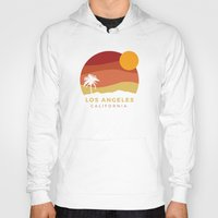 Hoodies featuring Los Angeles Sunset by Anthony Troester