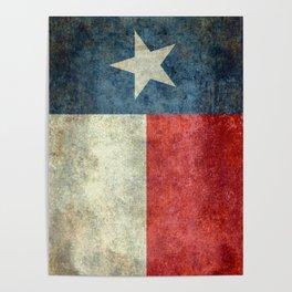 Texas State Flag, Retro Style Poster