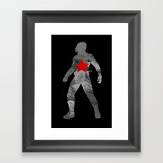Winter Soldier (Bucky Barnes) Framed Art Print