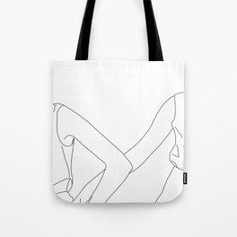 Fashion illustration line drawing - Camilla Tote Bag
