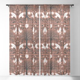 midnight forest moon Sheer Curtain