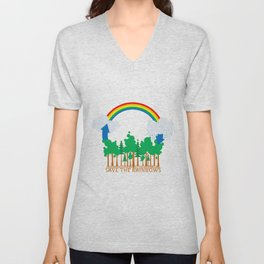 Save the Rainbows Unisex V-Neck