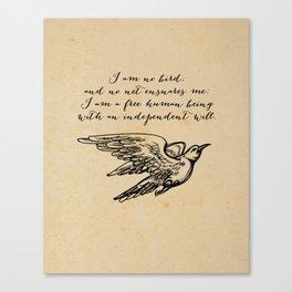 Jane Eyre - No bird - Bronte Canvas Print