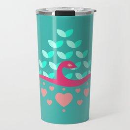 Be Beautiful - Be Colourful Peacock Travel Mug