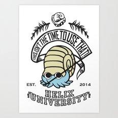 Helix Fossil University Art Print