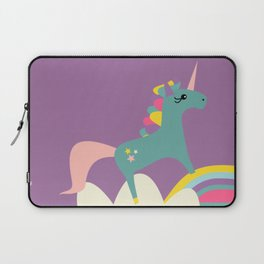 unicorn and rainbow purple Laptop Sleeve