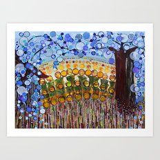 :: Indiana Blue Willow :: Art Print