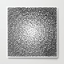 Static Series-Square  Metal Print