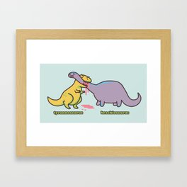 Tyrannosaurus & Brachiosaurus Framed Art Print
