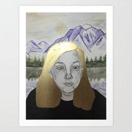 Mountain Gal Art Print