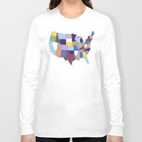 usa Long Sleeve T-shirts featuring USA by Project M