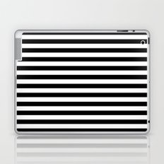 Modern Black White Stripes Monochrome Pattern Laptop & iPad Skin
