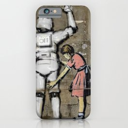 Girl and Clone   Tony Leone - Art Wars series iPhone Case
