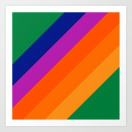 Simple Stripes - Grass Art Print