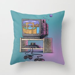 Childhood's dream Throw Pillow