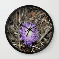 plant Wall Clocks featuring plant by  Agostino Lo Coco