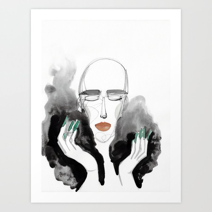 Charles in a Feather Boa Art Print