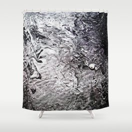 Black Lava III Shower Curtain