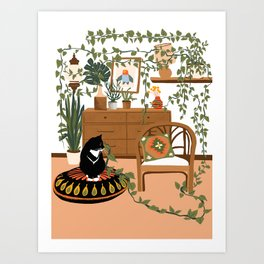 plant lady is the new cat lady Art Print