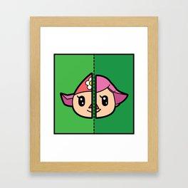 Old & New Animal Crossing Villager Female Framed Art Print